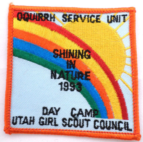 Girl Scout Gs Uniform Patchoquirrh Service Unit Shining In Nature 1993  #Gsor