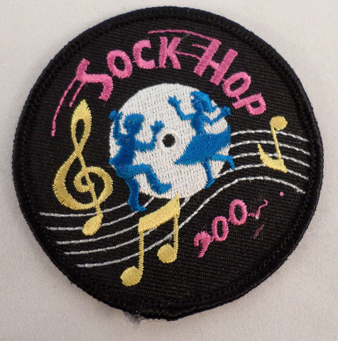 Vintage Girl Scout Sock Hop 2000 Dancing Musical Notes Music  #Gs-Bk
