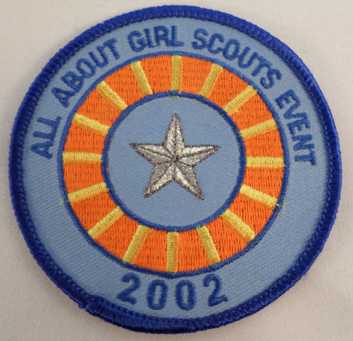 Vintage Girl Scout All About Girl Scouts Event 2002 Silver Star  #Gs-Bl