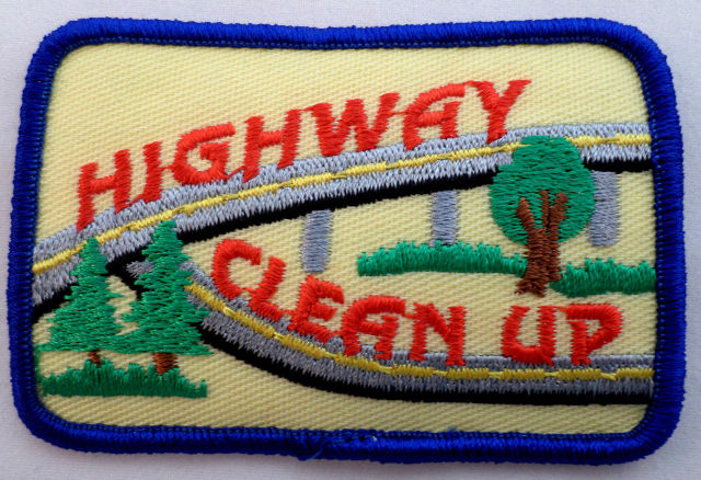 Girl Scout Gs Uniform Patch Highway Clean Up #Gsbl