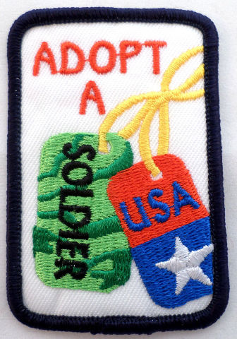 Girl Scout Gs Uniform Patch Adopt A Soldier Usa Dog Tags #Gsbk
