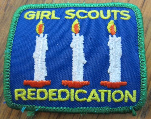 Girl Scout Gs Vintage Uniform Patch  Rededication