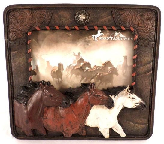 "Montana West Mustand Horse Lover Photo Frame 4"" X 6"" Western Inspired Equestrian"