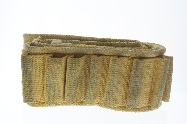 Ammunition Ammo Shotgun Belt Tan Woven Cotton Material Fits Anson Mills Buckle