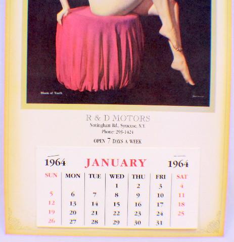 Syracuse Calendar.Details About R D Motors Syracuse Ny Pin Up Calendar Nude Girl Advertising Ephemera