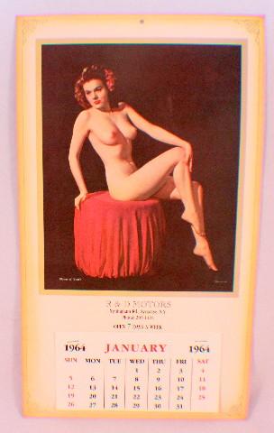 R & D Motors, Syracuse Ny Pin Up Calendar Nude Girl Advertising Ephemera