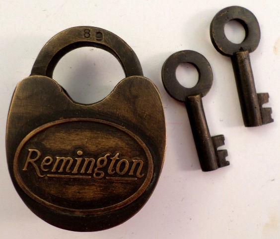 Solid Brass Lock And Key Remington Brand Riffles And Guns