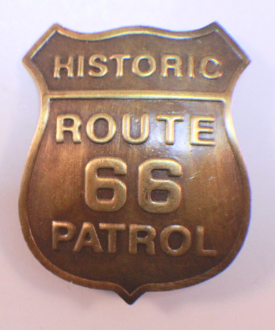 Historic Route 66 Patrol Badge Of The Old West Western Inspired Replica Pin Back
