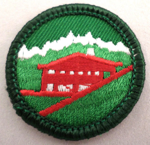 Girl Scout Gs Uniform Patch Junior Around The World Red Building #Gsgr