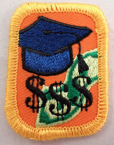 Girl Scout Cadette Senior Cash Cashin' In Badge Ip Interest Project Patch #Gsyl
