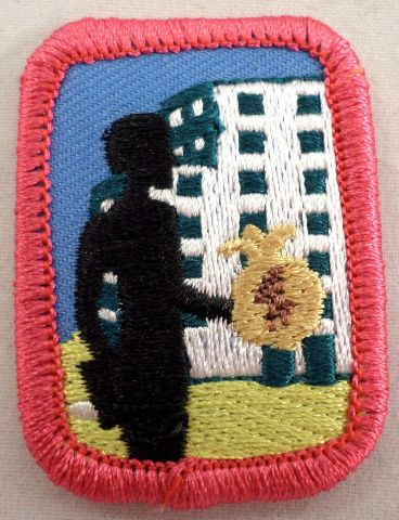Retired Oval Girl Scout Senior Cadette Mind Your Own Business Uniform Patch