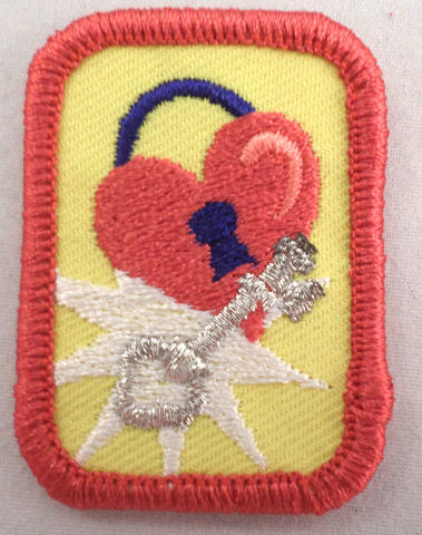 Retired Oval Girl Scout  Senior Cadette Take Charge Uniform Patch
