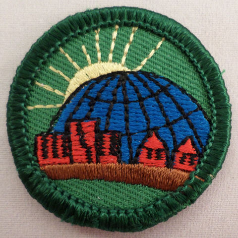 Jr. Girl Scout Merit Badge The World In My Community Uniform Patch