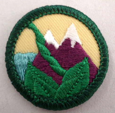 Girl Scout Gs Uniform Patch Globe Trotting Mountains And Vines #Gsgr