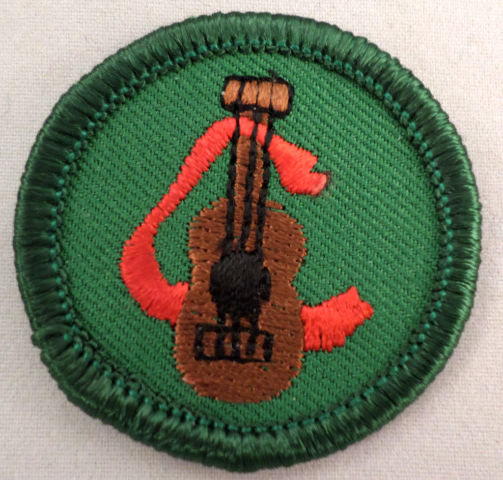 Girl Scout Gs Uniform Patch Junior Music Fan Guitar #Gsgr