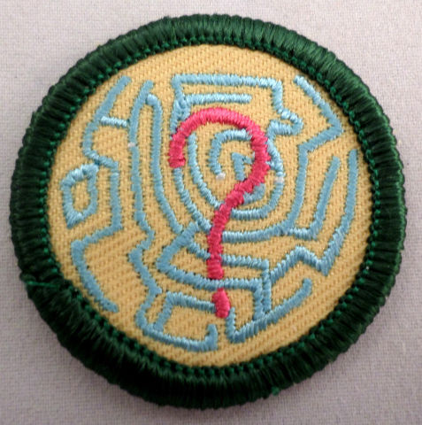 Girl Scout Gs Uniform Patch The Choice Is Yours ? With Maze Background #Gsgr