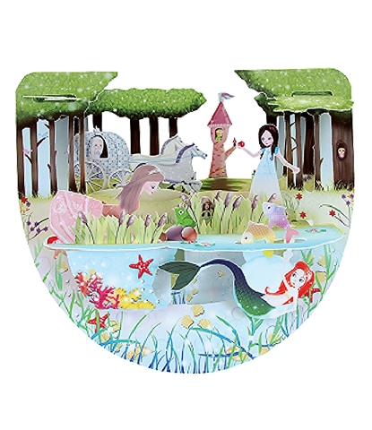 Santoro 3D Princess Greeting Card Pop-Up and Rock Popnrock
