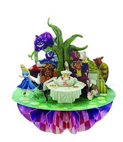 Santoro 3D Pirouettes Alice in Wonderland Cheshire Cat Mad Hatter