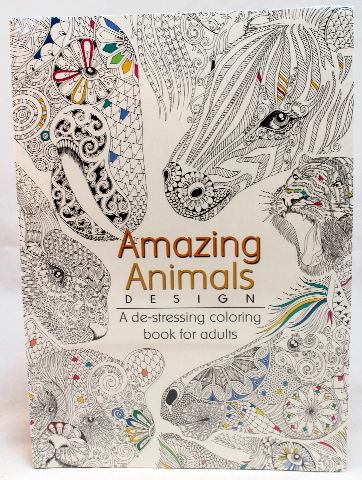 Oceanis Adult and Teen Coloring Book Amazing Animals Theme