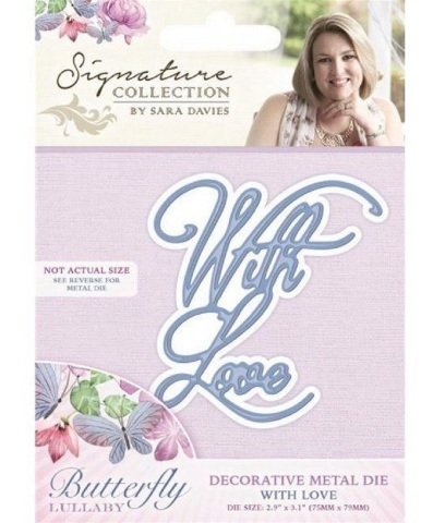 Crafter's Companion With Love Sentiment Metal Die Cut Romance Amore