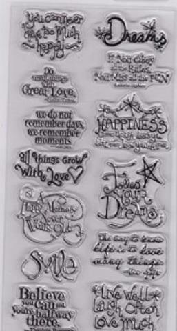 Hampton Art/'s /'Cling Birdie Sentiments/' Rubber Stamp Set.