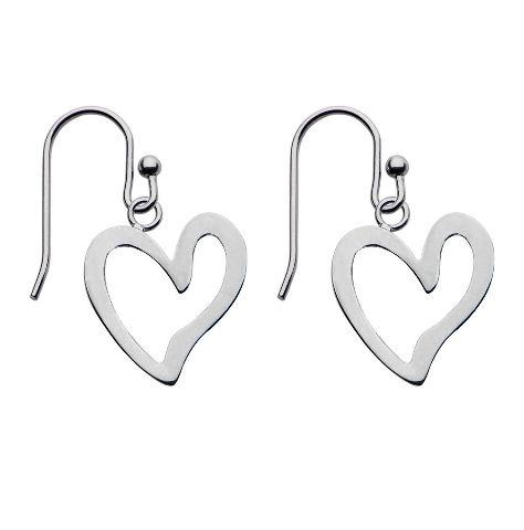 Women'S Inox Jewelry Stainless Steel Dangle Heart Romantic Earrings