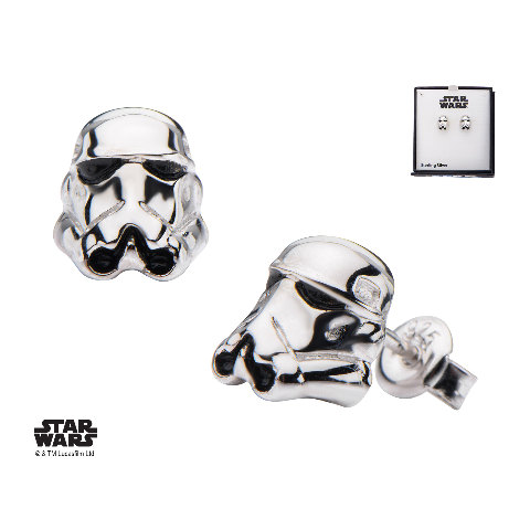 Inox Jewelry Stainless Steel Stormtrooper Helmet 3d Post Stud Earring