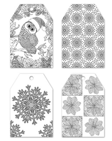 color create your own gift tag set of 24 pieces 4 designs winter