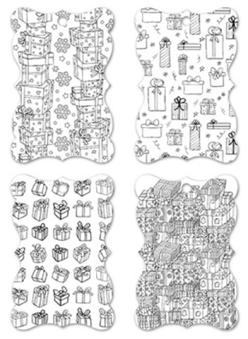 Color Create your Own Gift Tag Set of 24 Pieces 4 Designs Best Gift of All