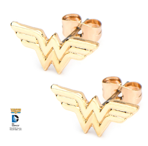 Inox Jewelry Wonder Woman Symbol WW Pierced Post Stud Earring