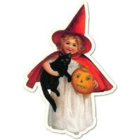 Shackman Haunting Witch Girl Halloween Gift Tag Set Of 3 #Shk-3