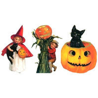 Halloween Inspired Party Decorations Featuring Children, Cats & Pumpkins #Shk-12
