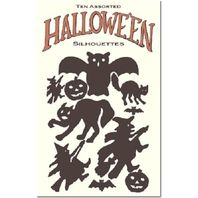 Halloween Inspired Party Decorations Silhouette Spooky Witch Cat Shapes #Shk-13