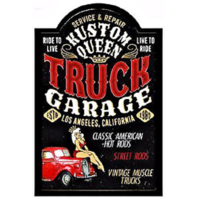 Truck Garage Service & Repair Classic American Hot Rods 3D Pub Wall Sign