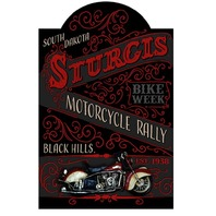 Sturgis South Dakota Motorcycle Rally 3D Pub Wall Sign