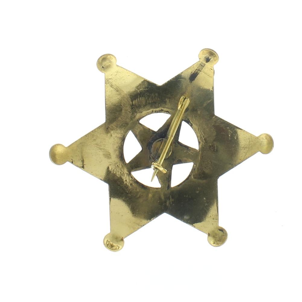 Embossed Star Arizona Territory Ranger Shiny Brass Badge Pin