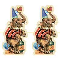 Shackman Circus Inspired Party Garland Featuring Children & Animals #Shk-21