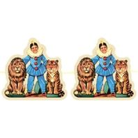 Shackman  Circus Party Garland Featuring Lion And Tiger Tamer Clown #Shk-23