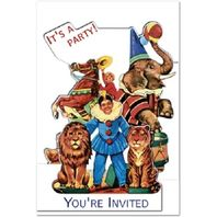 You'Re Invited Party Invitations Circus Rodeo Clown Lion Tamer Elephant #Shk-9B