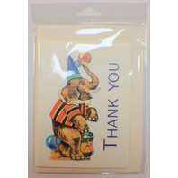 Shackman Thank You Cards Circus Elephant Clown Set Of 4 Included #Shk-9D