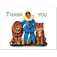 Shackman Thank You Cards Lion And Tiger Tamer Set Of 4 Included #Shk-9E