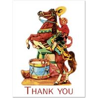 Shackman Thank You Cards Circus Rodeo Clown Set Of 4 Included #Shk-9C