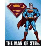 """Superman The Man Of Steel 12.5"""" X 16"""" Comic Book Tin Sign Dc Comics #1337"""