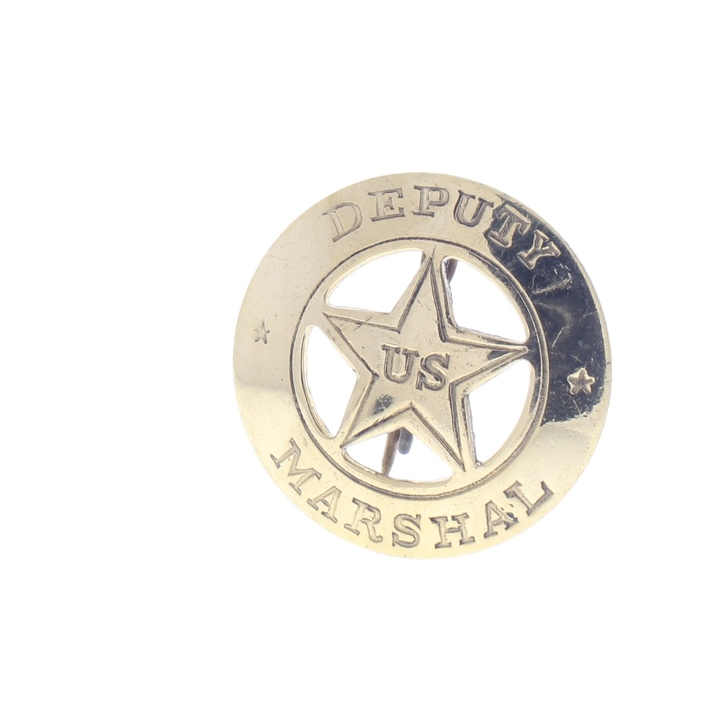 Embossed Deputy Us Marshal Old Western Replica Pin Back