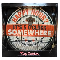 Happy Hour Bottle Opener Top Cap Catcher Bar Pub Sign Man Cave