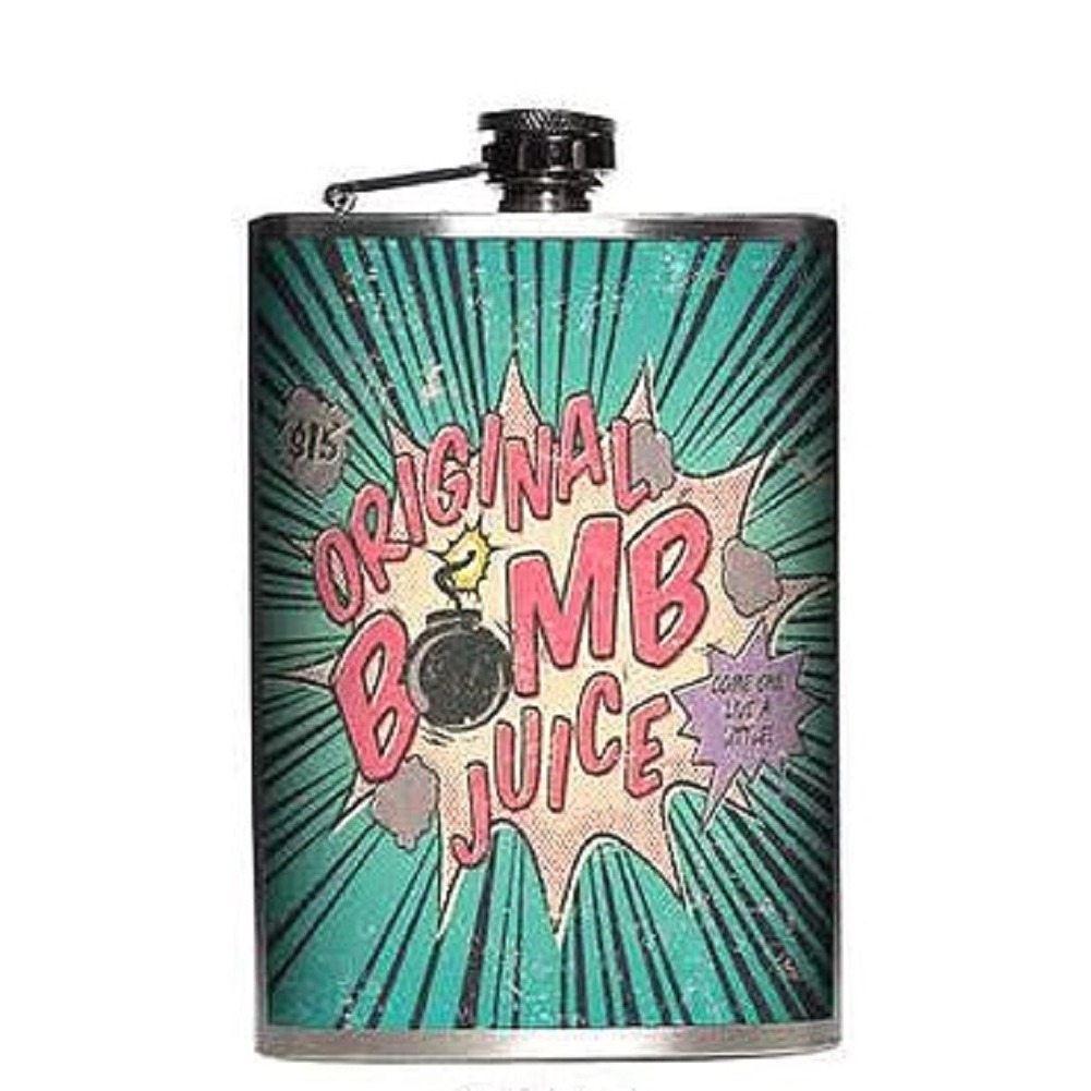 Totally Rad Original Bomb Juice Stainless Steel 8 Oz Flask