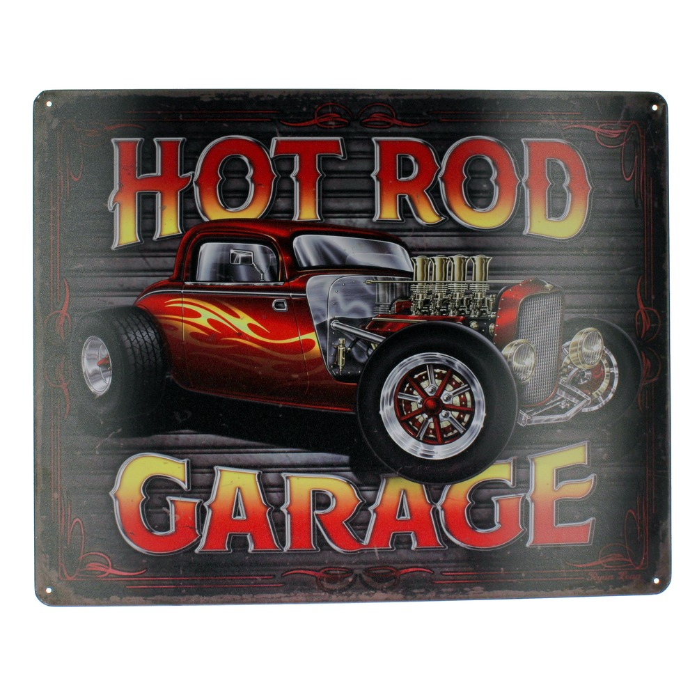 Hot Rod Garage Muscle Car  Metal Sign Pub Game Room Bar