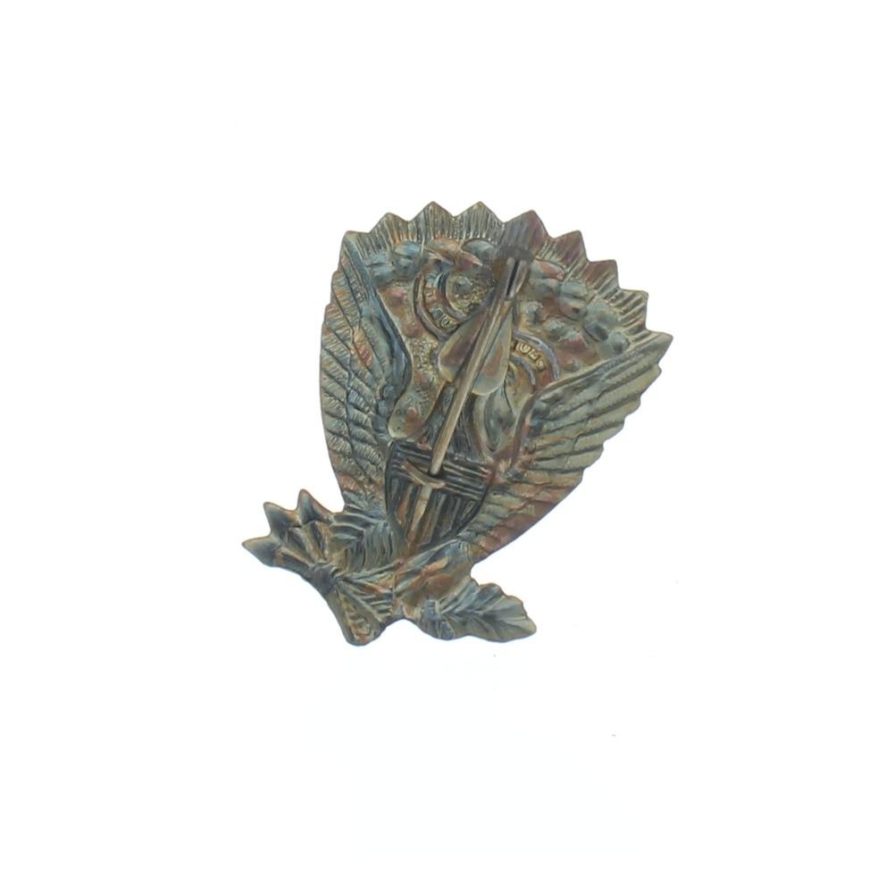 Jefferson Davis Civil War Insignia Pin with Antiqued Finish