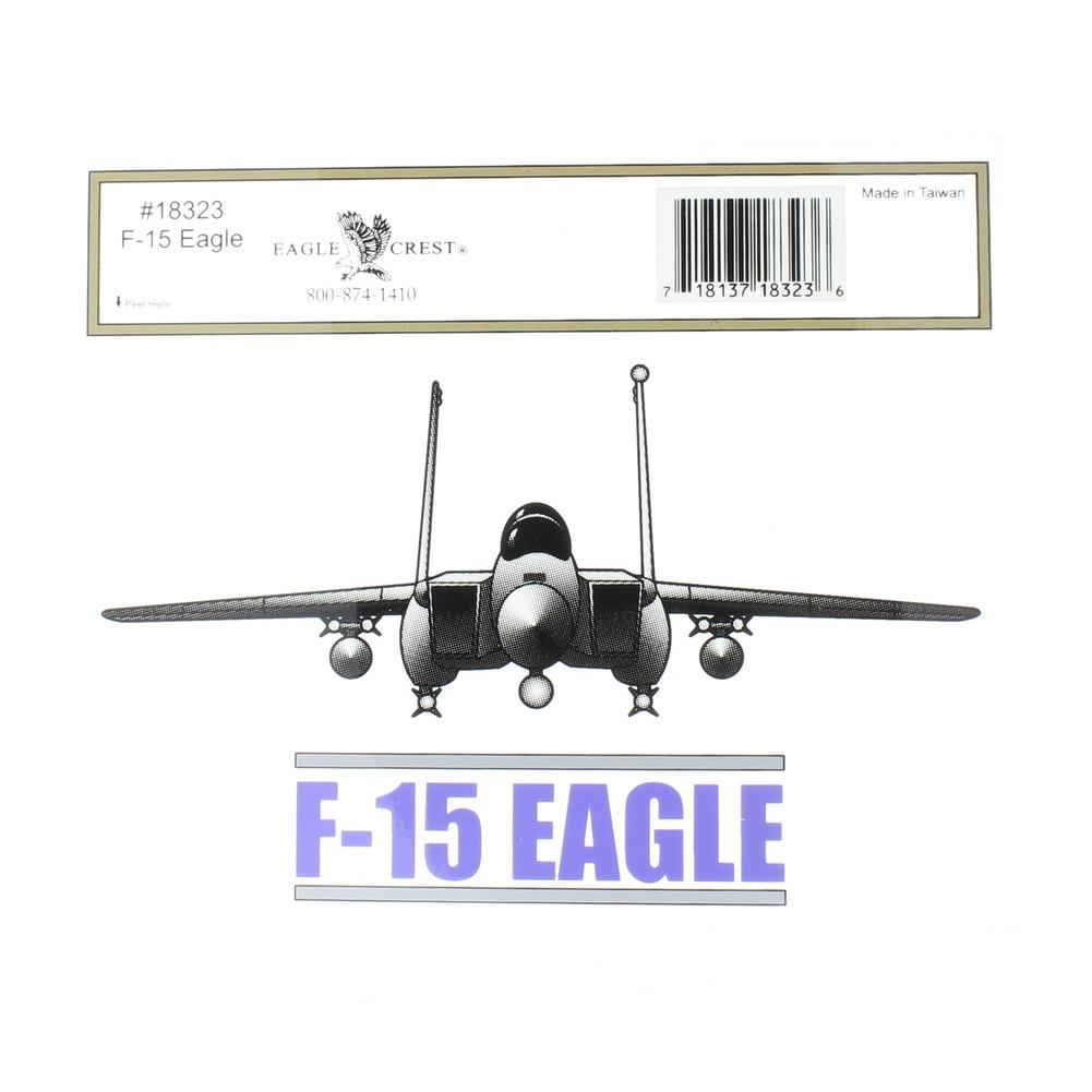 F-15 Eagle Fighter Jet Mylar Decal Window Bike Customization Sticker