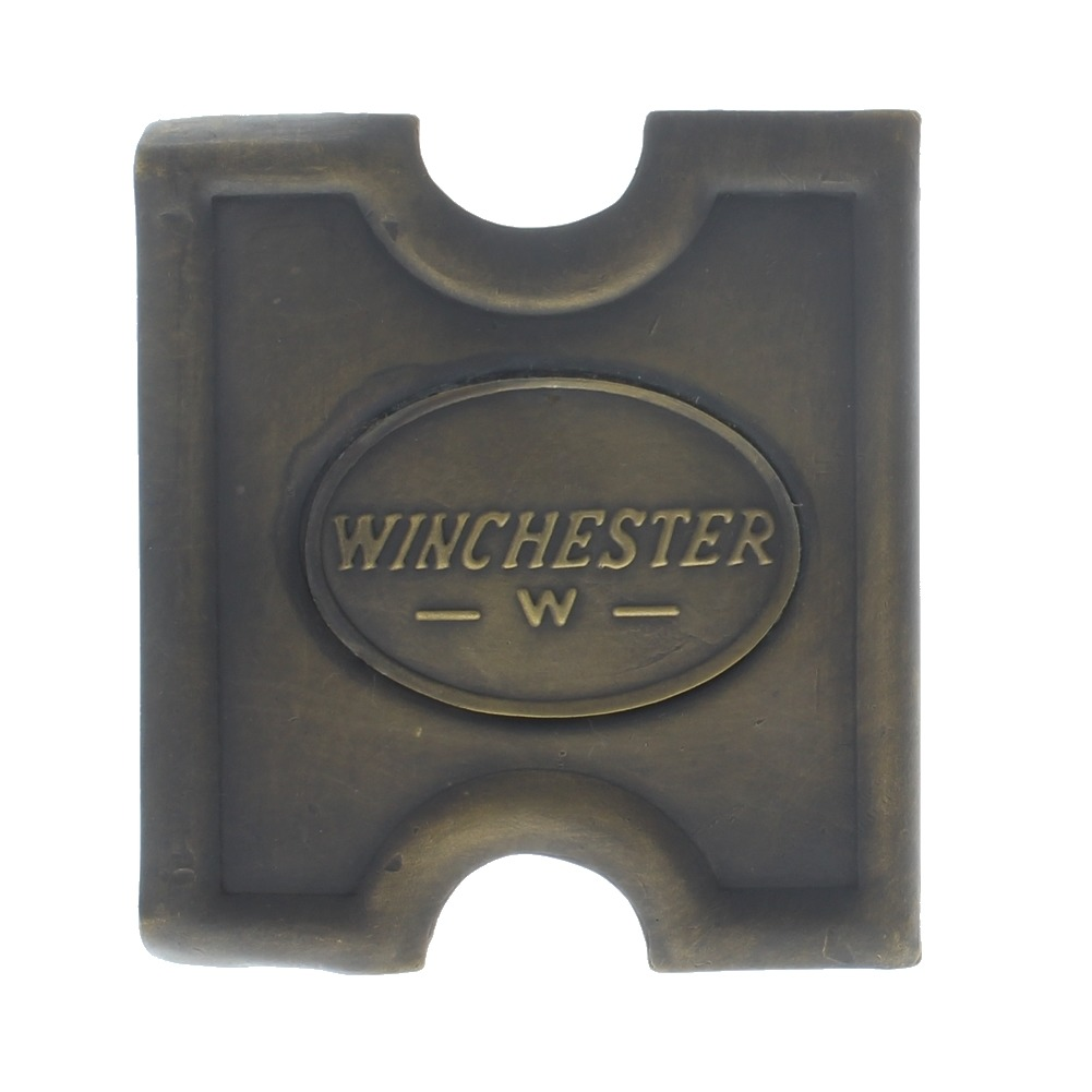Anson Mills Belt Buckle Winchester Dog Solid Brass Reenactments